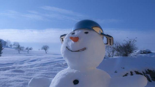 ドヤ顔の雪だるま